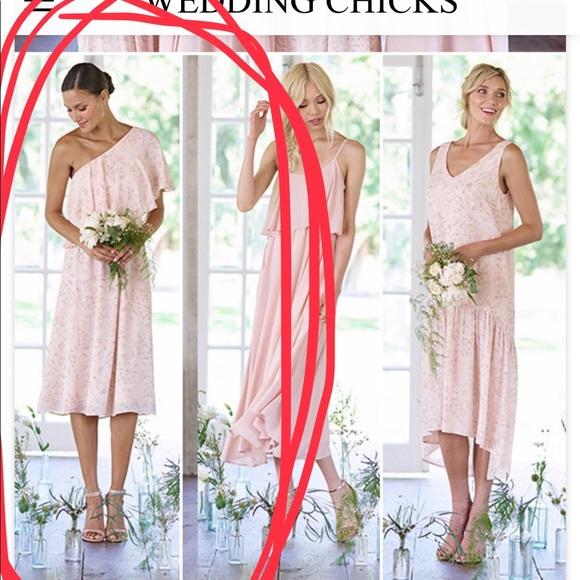 Paper Crown Bridesmaid Dress Blush Floral